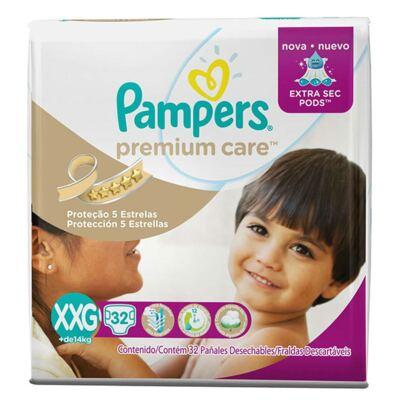 Imagem 1 do produto Fralda Descartável Pampers Premium Care XXG 32 Unidades