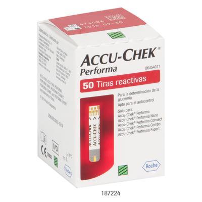Imagem 2 do produto Tiras Accu-Chek Performa Roche C/ 50 Unidades