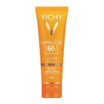 Imagem 1 do produto Protetor Solar Clareador com Cor Vichy Capital Soleil Clarify FPS60 50g