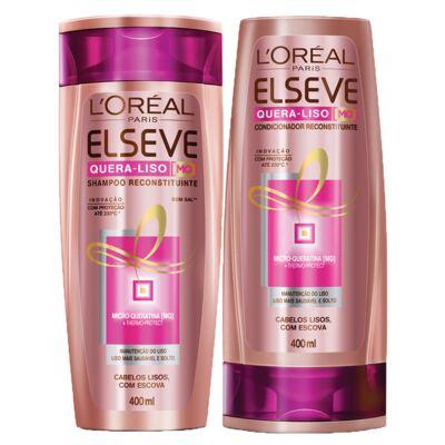 Imagem 1 do produto Kit Shampoo + Condicionador L'Oréal Paris Elseve Quera-Liso 230°C - Kit