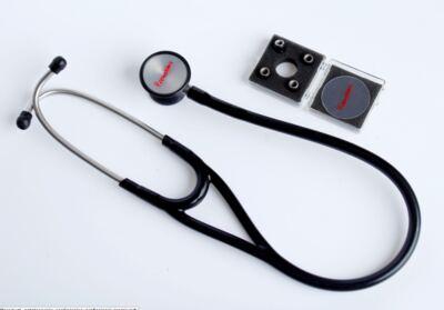 Imagem 1 do produto Kit Esteto Cardiológico Preto com Aparelho de Pressão Rosa Premium
