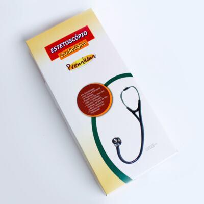 Imagem 4 do produto Kit Esteto Cardiológico Preto com Aparelho de Pressão Rosa Premium