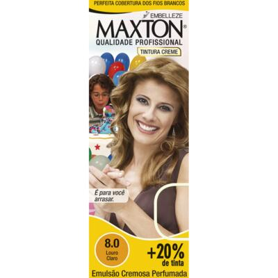 Imagem 1 do produto Kit Tintura Prático Maxton 8.0 Louro Claro