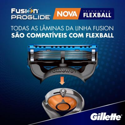Imagem 5 do produto Carga Gillette Fusion Proglide - 4 Unidades