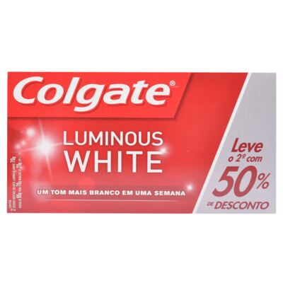 Imagem 1 do produto Kit Creme Dental Colgate Luminous White 70g 2 Unidades