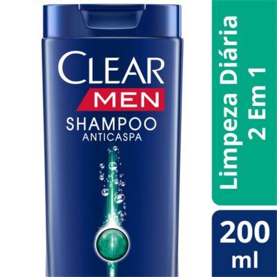 Shampoo Clear Limpeza Diária 2x1 200ml
