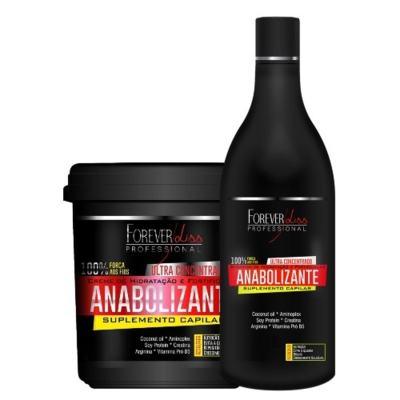 Kit Shampoo + Creme de Hidratação Forever Liss Professional Anabolizante Capilar - Kit