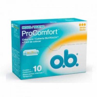 Imagem 1 do produto Absorvente Interno O.B. Médio Procomfort - 10 unidades