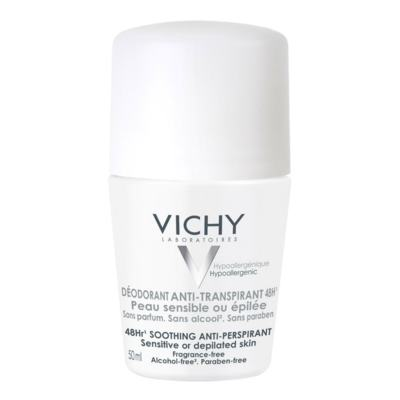 Desodorante Roll On Vichy Peles Sensíveis Antitranspirante 48h 50ml
