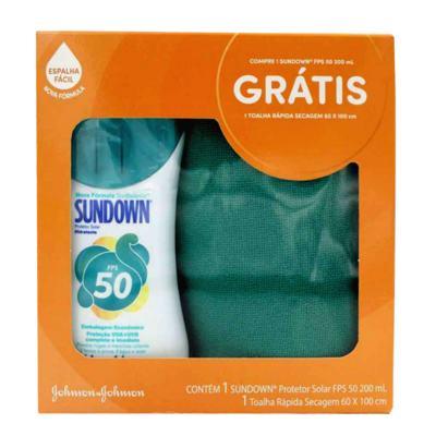 Imagem 1 do produto Kit Sundown Protetor Solar FPS50 200ml Grátis Toalha Dry