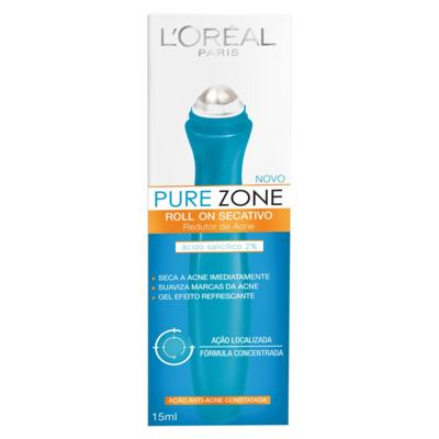 Gel Secativo L'Oréal Pure Zone Roll On 15ml