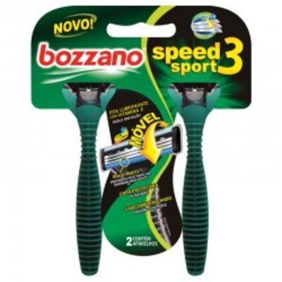 Aparelho de Barbear Bozzano Speed 3 Sport - 2 unidades