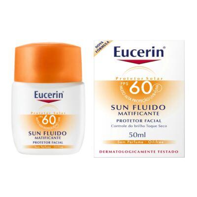 Protetor Solar Facial Eucerin Sun Fluido Matificante FPS 60 50ml