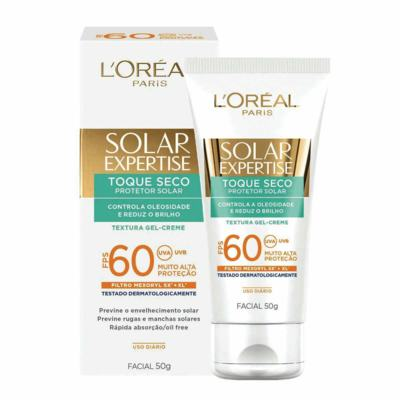Imagem 1 do produto Protetor Solar Facial L'Oréal Expertise Toque Seco FPS 60 50g