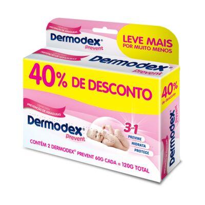 Imagem 1 do produto Kit 2 Dermodex Prevent Creme Prevenção de Assaduras 60g