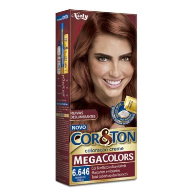 Imagem 1 do produto Coloração Cor & Ton Mega Colors 6.646 Vermelho Ceraja -