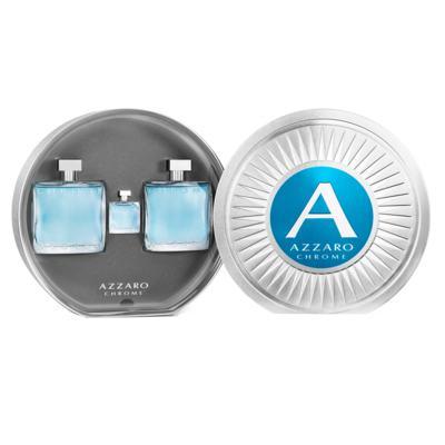 Imagem 1 do produto Azzaro Chrome Kit - Eau de Toilette + Pós-Barba + Miniatura - Kit