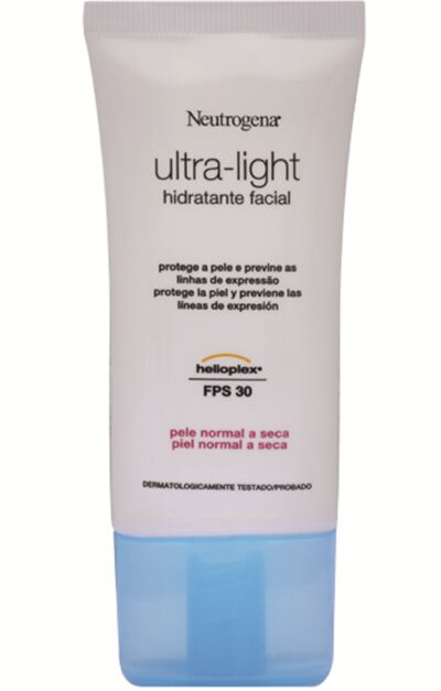 Hidrante Facial Neutrogena Ultra-Light Dia Pele Normal e Seca 55g