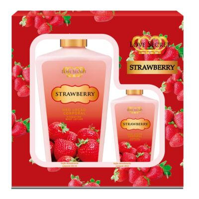 Imagem 1 do produto Kit Strawberry Loção Corporal De Love Secret - KIt (250ml + 60ml)