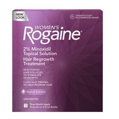 ROGAINE - MINOXIDIL EM SOLUÇÃO 2% PARA MULHERES - TRATAMENTO PARA 3 MESES - 60ml