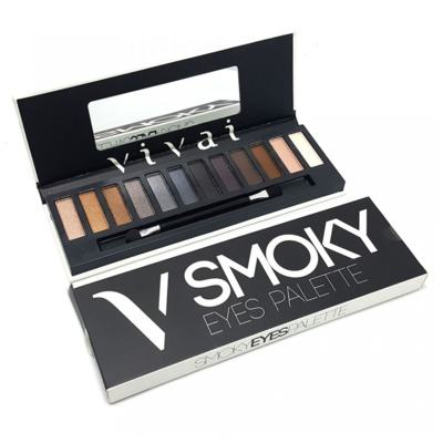 Paleta De Sombras Smoky Eyes de Vivai - 12 Cores