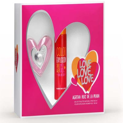 Imagem 1 do produto Kit Love Love Love Agatha Ruiz de la Prada Eau de Toilette Feminino - 80 ml + Shower Gel 100 ml