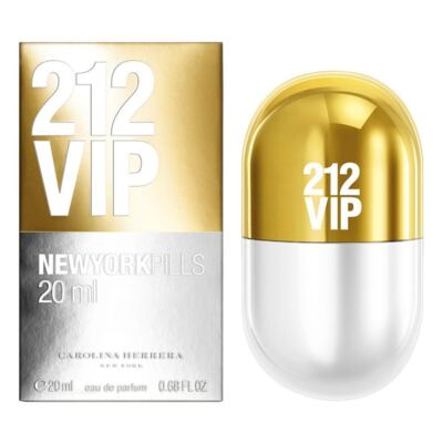 212 Vip New York Pills de Carolina Herrera Eau de Parfum Feminino - 20 ml