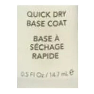 Imagem 2 do produto Quick Dry Base Coat Revlon - Base Protetora para Unhas Frágeis - 14,7ml