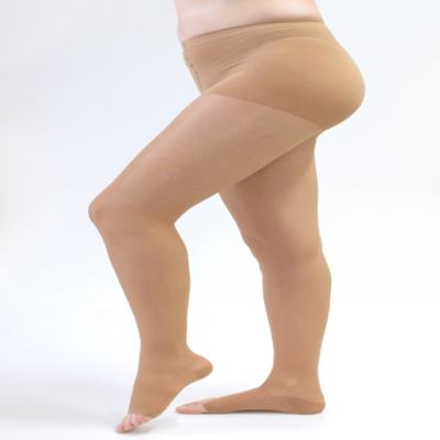 Imagem 2 do produto Meia Calça 15-20 Assure Medi - Bege Ponteira Aberta G