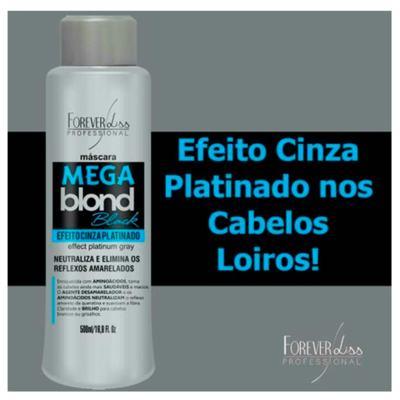 Imagem 2 do produto Forever Liss Mega Blond Black - Máscara Matizadora - 500ml