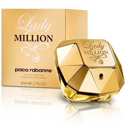 Lady Million Paco Rabanne Feminino Eau De Parfum - 80 ml