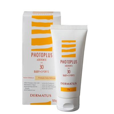 Imagem 2 do produto Photoplus Aderente FPS30 Baby + Sports Dermatus - Protetor Solar - 55g