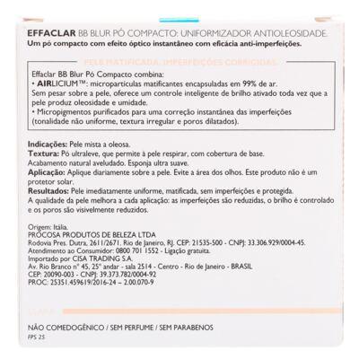 Imagem 5 do produto Effaclar BB Blur Fps 25 La Roche-Posay- Pó Compacto - Clara