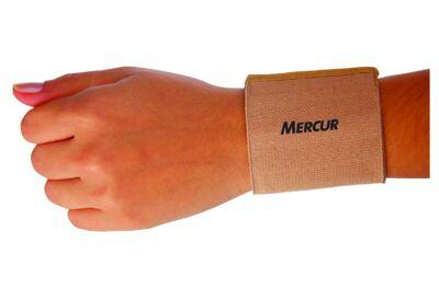 Imagem 1 do produto Par de Munhequeira Elástica Bege Mercur