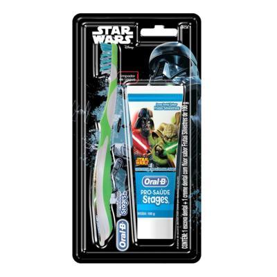 Imagem 1 do produto Kit Oral-B Stages Star Wars Escova Dental + Creme Dental Frutas Silvestres 100g