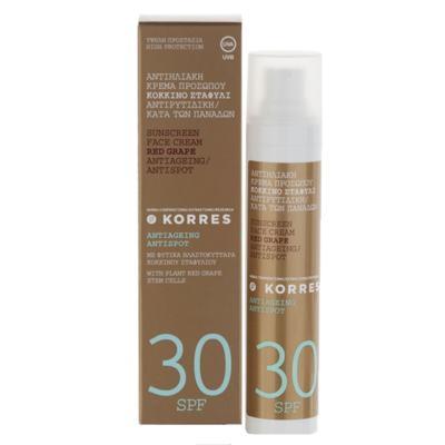 Imagem 1 do produto Protetor Solar Facial Korres Uva Mediterrânea FPS 30 - 50g