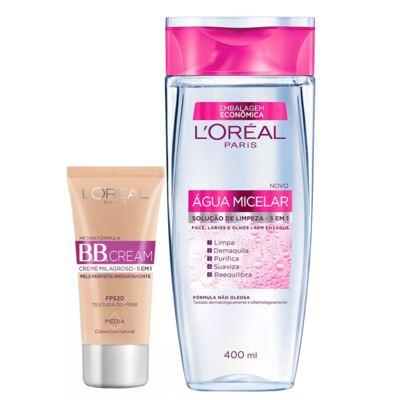 Imagem 1 do produto L'Oréal Paris Água Micelar + Dermo Expertise Ganhe 31% Kit - Água Micelar + BB Cream - Kit