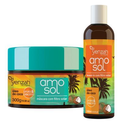 Imagem 2 do produto Yenzah Amo Sol Kit - Leave-In + Máscara Ultra hidratante - Kit