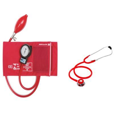 Imagem 1 do produto Aparelho de Pressão com Estetoscópio Duplo Vermelho CJ0730 Bic