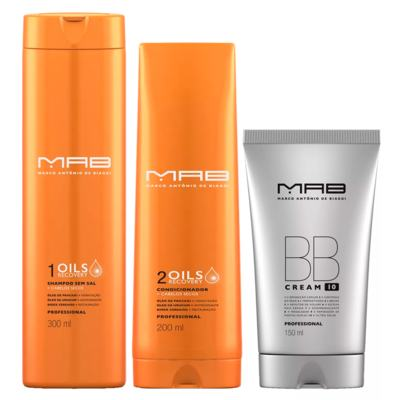 Imagem 2 do produto MAB Oils Recovery + BB Cream Kit - Shampoo + Condicionador + Leave-in BB Cream - Kit