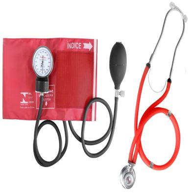 Imagem 3 do produto Kit Esteto Rappaport com Aparelho de Pressão Vermelho Premium