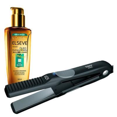 Imagem 1 do produto Kit Tratamento + Prancha Look Taiff L'Oréal Paris Elseve Óleo Extraordinário Disciplinante - Kit