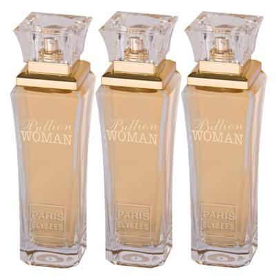 Paris Elysees Billion Woman Leve 3 Pague 2 - Eau de Toilette + Eau de Toilette + Eau de Toilette - Kit