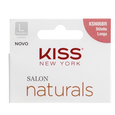 Imagem 2 do produto Unhas Postiças Kiss New York - Salon Natural Longo Estileto - 1 Un