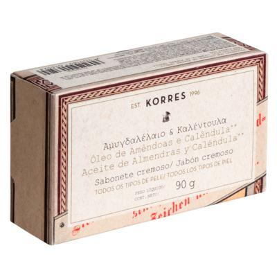 Sabonete Cremoso Korres - Amêndoas e Calêndula - 90g