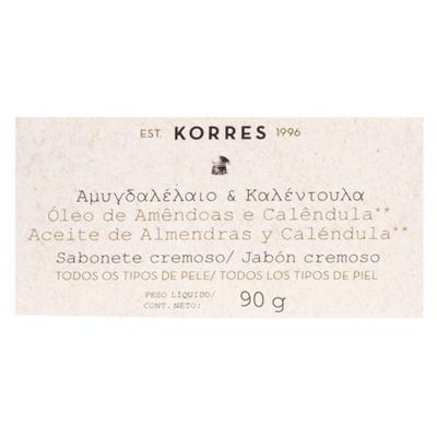 Imagem 2 do produto Sabonete Cremoso Korres - Amêndoas e Calêndula - 90g
