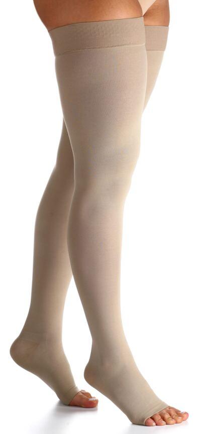Imagem 1 do produto Meia Coxa 30-40 Select Comfort Premium Sigvaris - Normal Natural Ponteira Aberta M