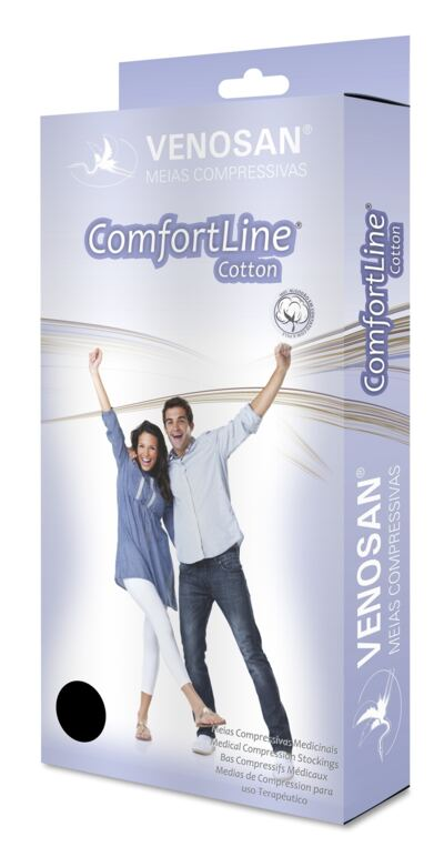 Meia Panturrilha AD 30-40 Comfortline Cotton Venosan - LONGA PONTEIRA ABERTA BEGE XG