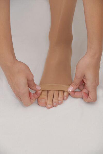 Imagem 2 do produto Meia Calça AT 15-23 mmHg Legline Venosan - PONTEIRA ABERTA SAHARA P