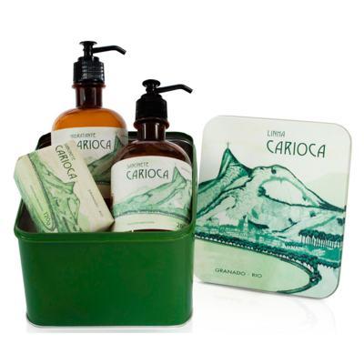 Imagem 3 do produto Carioca Granado Kit - Sabonete em Barra + Hidratante Corporal + Sabonete Líquido - Kit